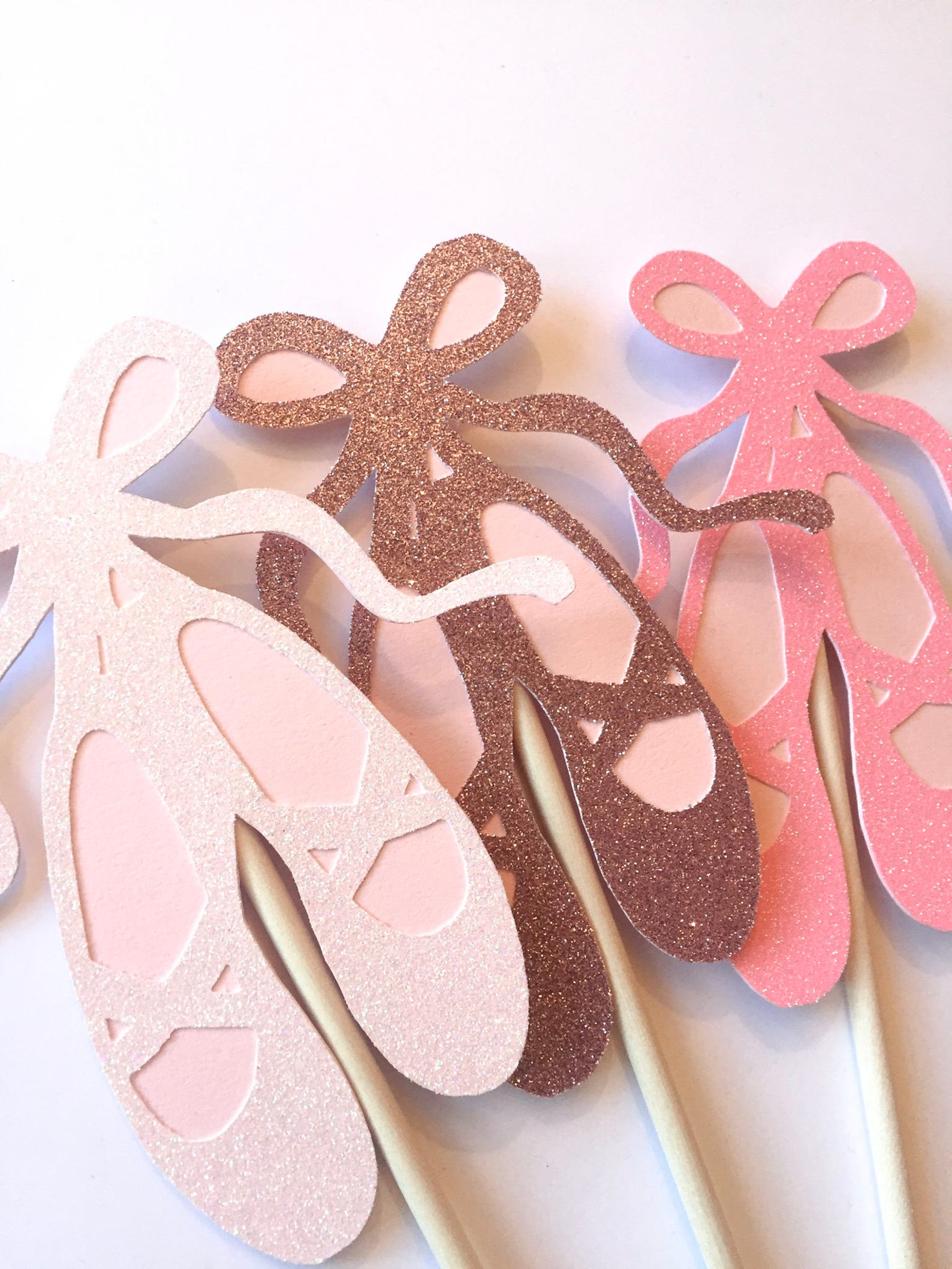 glitter pink ballet shoe, ballerina photo booth prop, center piece. birthday, baby shower, hen, bachelorette party prop.