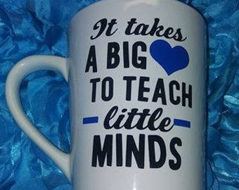 Back To School Teacher Gift It takes a big heart to teach little minds