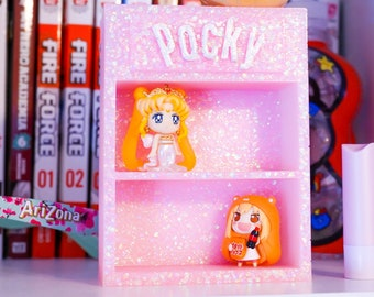 Pastel pink Pocky mini shelf