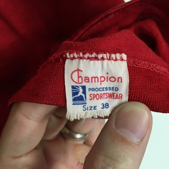 40s/ 50s Champion Runner Tag Jersey, Made in USA (