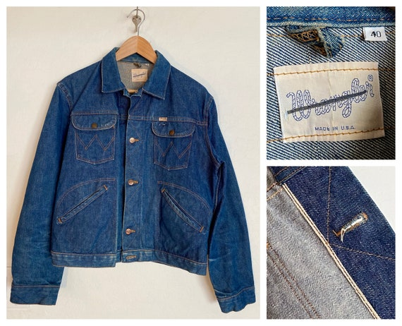 60s Wrangler 124MJ Selvedge Denim Jean Jacket, Mad
