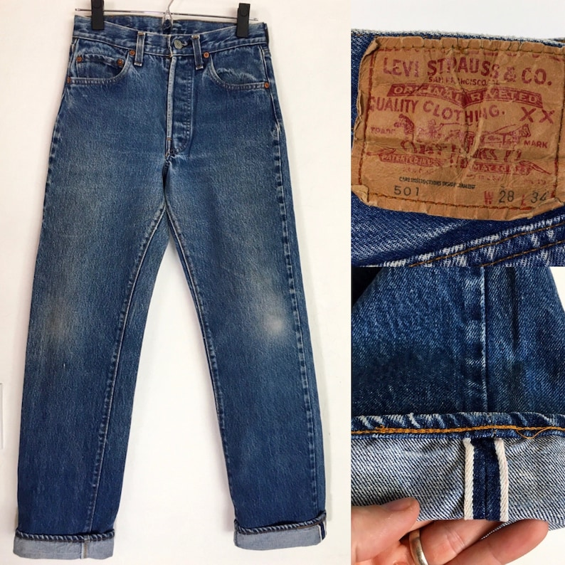 Vtg Levi S 501 Redline Selvedge Denim Jeans Made In Usa Etsy