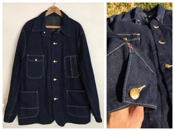 DARK 40s/50s Sanforized Chore Jacket  (44)