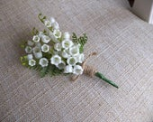 Lily of the valley buttonhole / boutonniere.