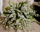 Lily of the valley wedding bouquet.