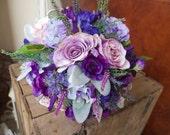 Purple and lavender silk ...