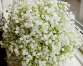 Gypsophilia silk wedding bouquet.