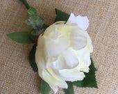 Ivory peony silk wedding ...