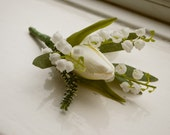 Spring tulip buttonhole/boutonniere.
