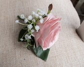 Dusky pink rose silk wedd...