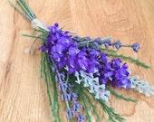Rustic lavender silk wedd...