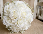 Ivory rose and white gyps...