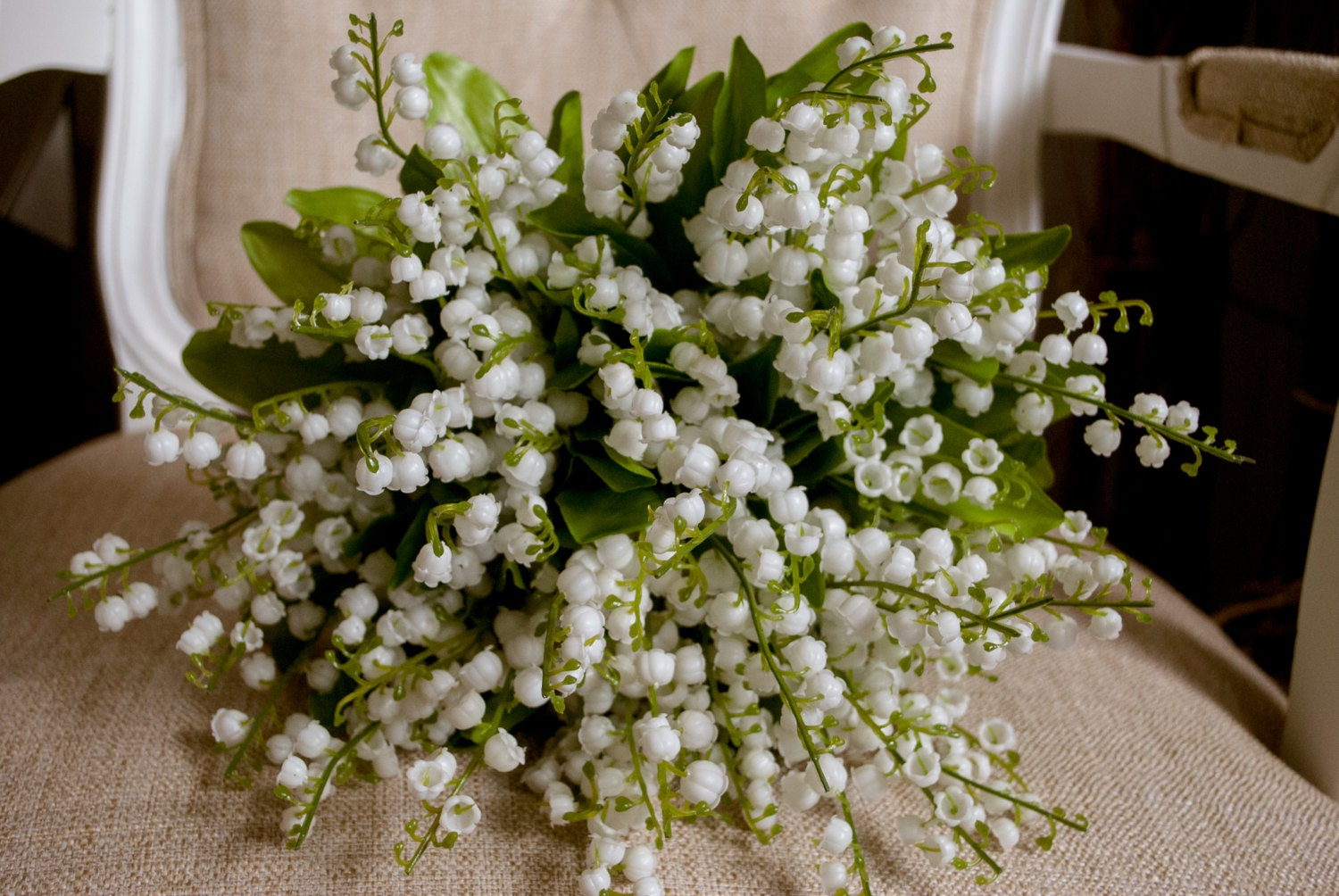 Luxury lily of the valley wedding bouquet made with etsy zoom izmirmasajfo
