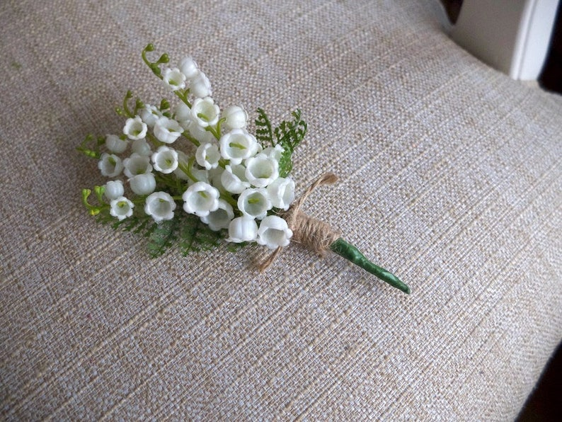 Lily of the valley buttonhole / boutonniere. image 0