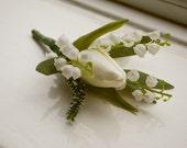 Spring tulip buttonhole/boutonniere.