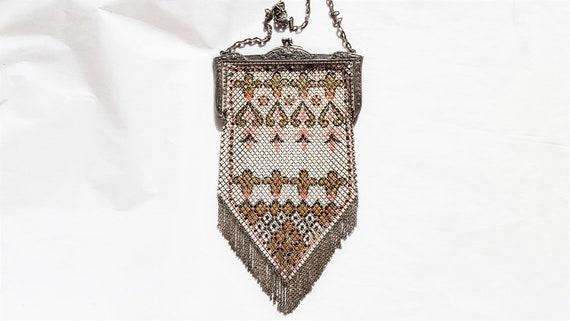 Vintage Enamel Mesh Purse by Mandalian Mfg. Co