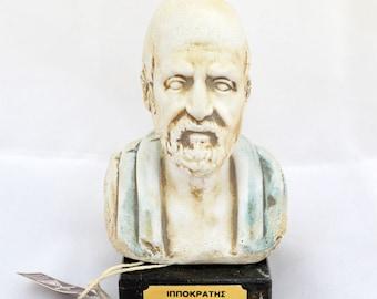 Hippocrates father of medicine sculpture bust Hippocrates 460-377 BC