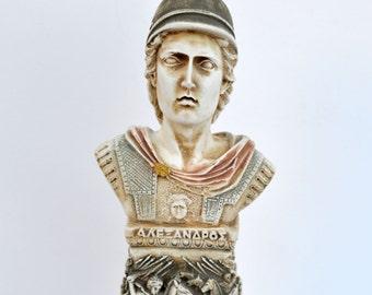 Alexander the Great column sculpture bust Ancient Greek Macedonian