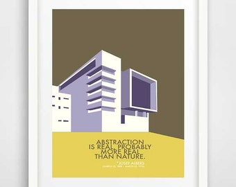 Mid-century modern wall art, Josef Albers, cool posters, unique wall art, wall prints, modern architecture, living room art, Bauhaus