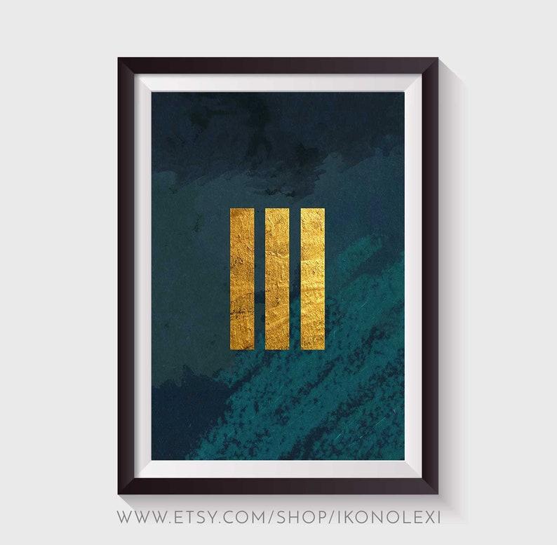 Abstract painting moody wall art poster printable green and image 0