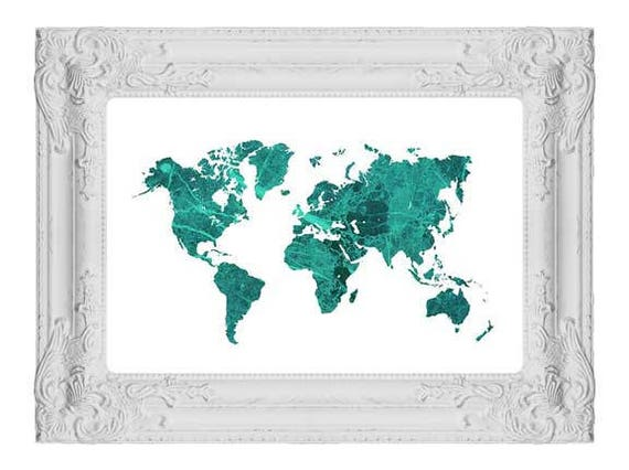 Large world map world map poster teal wall art marble decor world map print home decor world map art weltkarte poster carte du monde large world map world map poster teal wall art marble decor world map print home decor world map art weltkarte poster cart Images