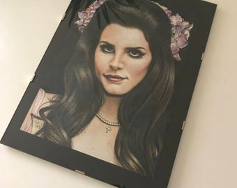 Original Lana Del Rey drawing (21x30 cm)