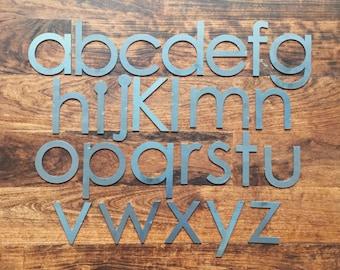 "Modern 4"" Lowercase   Laser Cut Metal Letters"