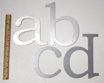 """Classic 8"""" Lowercase   Laser Cut Metal Letters"""