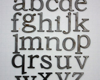 """Classic 2"""" Lowercase   Laser Cut Metal Letters"""