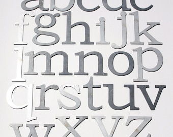 """Classic 4"""" Lowercase   Laser Cut Metal Letters"""