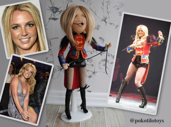 Britney Spears Celebrity Doll Fabric Character Doll Selfie Etsy