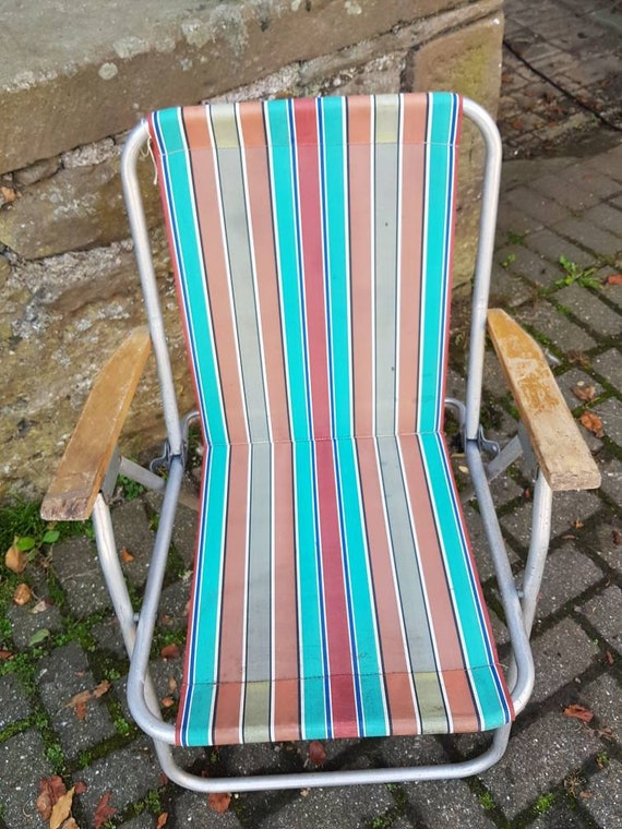 Chaise Vintage De Camp Pliage Camp Chaise Chaise De Camping Etsy