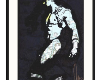 Original Hand drawn Hunky shorty naked guy in sports socks by gay artist NLMKART