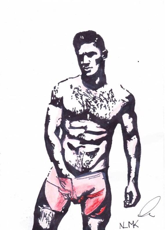 haarige muskulösen mann pic