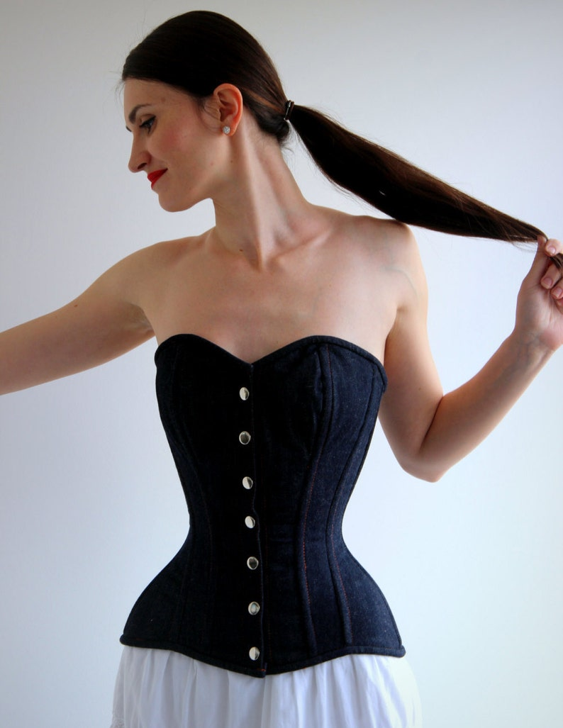 8dbbdc9452 Denim overbust corset from Corsettery Western Collection