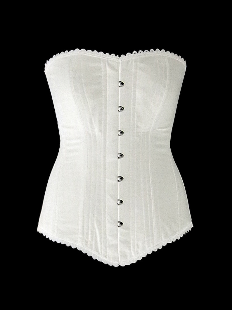 Victorian Corsets – Old Fashioned Corsets & Patterns     Authentic cotton corset: vintage cotton overbust corset black or white. Steelbone custom made corset gothic steampunk bespoke victorian $98.00 AT vintagedancer.com
