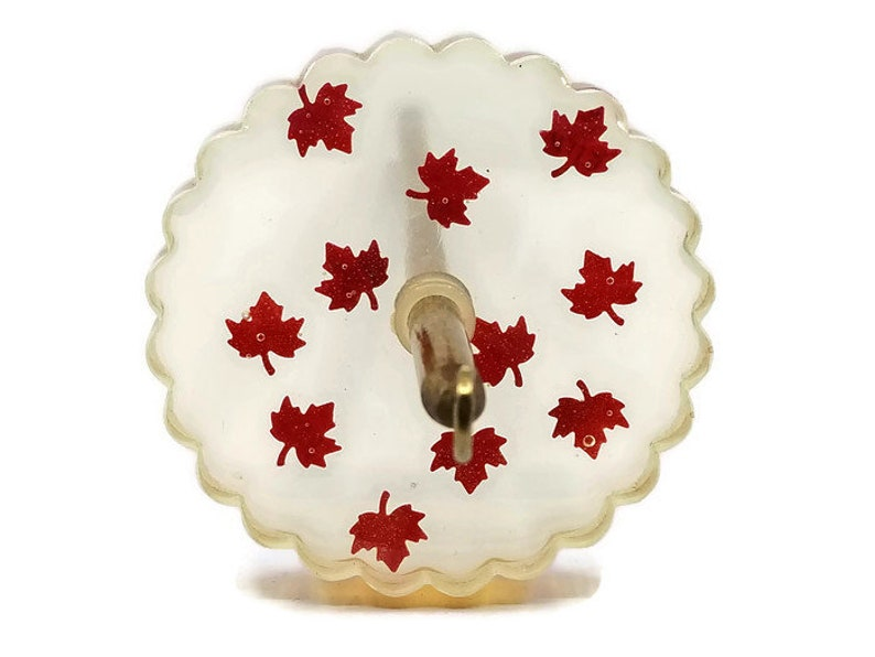 Resin Drop Spindle - OH Canada!! - 33 grams (1 2 oz), epoxy resin,  spinning, maple leaf