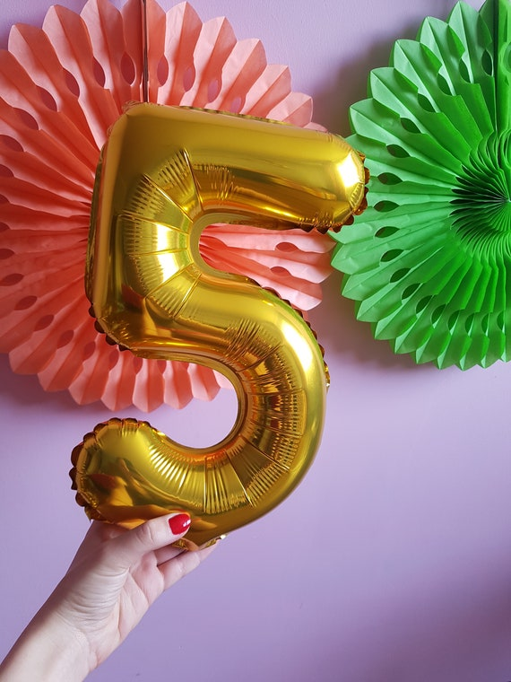 Letter P 40cm Gold Alphabet Air-Filled Foil Balloon