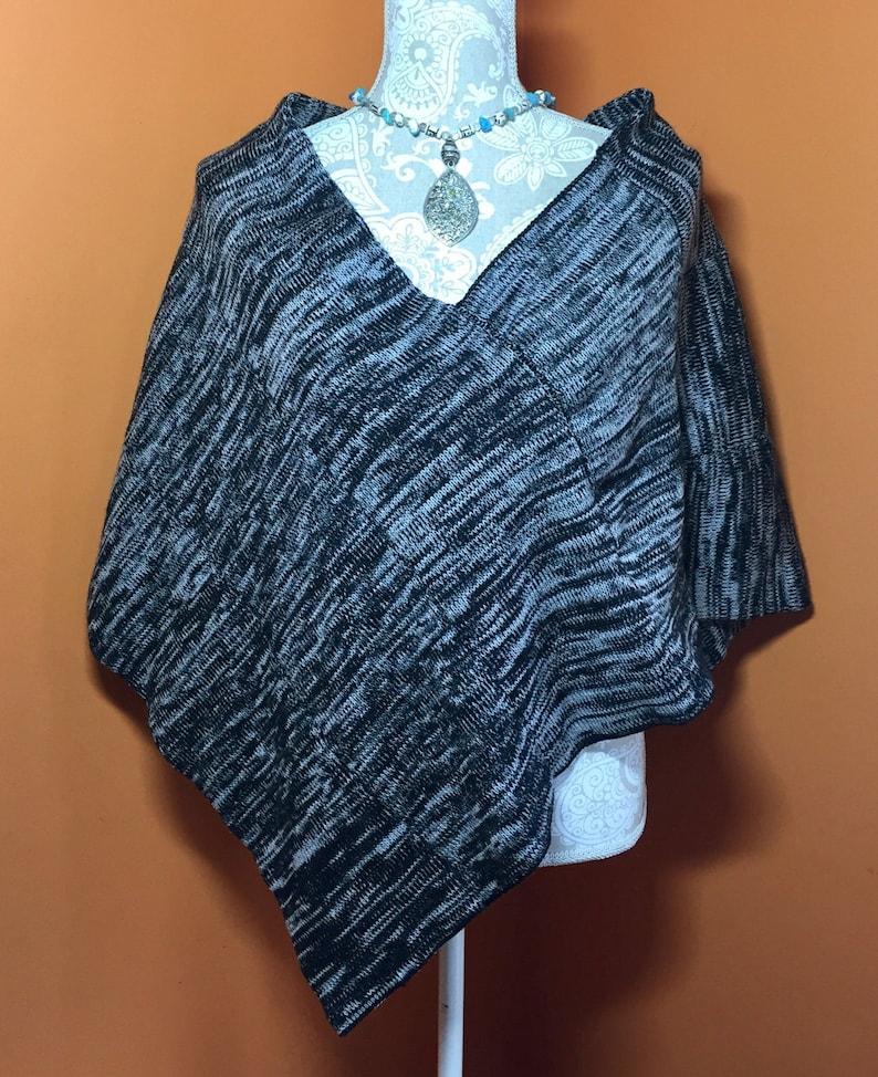 Pattern Csm 2 Point Poncho Knitting Pattern Knit Pattern Etsy