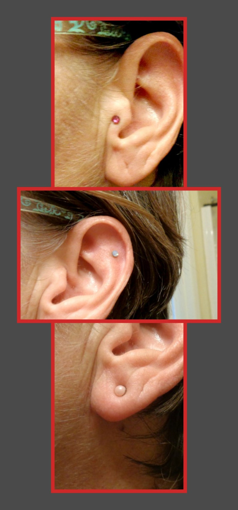 JUST FOR FUN or Just Because Non Piercing No Hole 4mm Magnetic Ear Nose Lip Tragus Helix Stud Googlie Eyes Shakey Pupil Eyeball