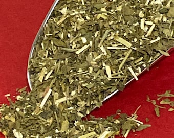 RUE HERB, USDA Certified organic, Kosher Certified.  Ruta Graveolens, Common Rue. Sold by weight- 1 ounce.