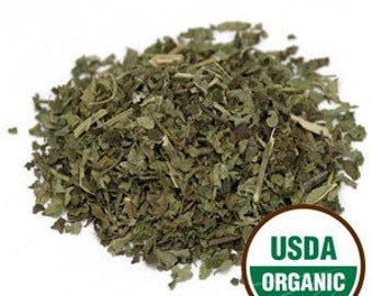 LEMON BALM, USDA certified organic; Melissa Officinalis. Earth Kosher certified. Sold by weight.