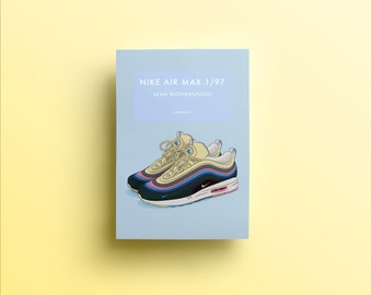 caf77ff892 Nike Air Max 1/97 Sean Wotherspoon | Trainers Illustrated Poster Print | A5  A4 A3