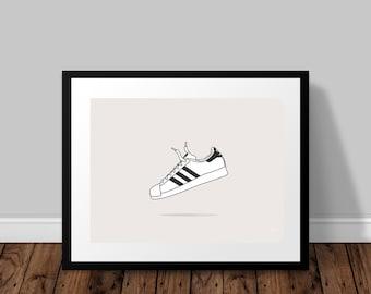 adidas Originals Superstar Illustrated Poster Print | A6 A5 A4 A3