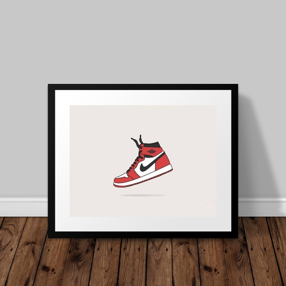 prodotti caldi varietà larghe super popolare Nike Air Jordan OG Illustrated Poster Print | A6 A5 A4 A3