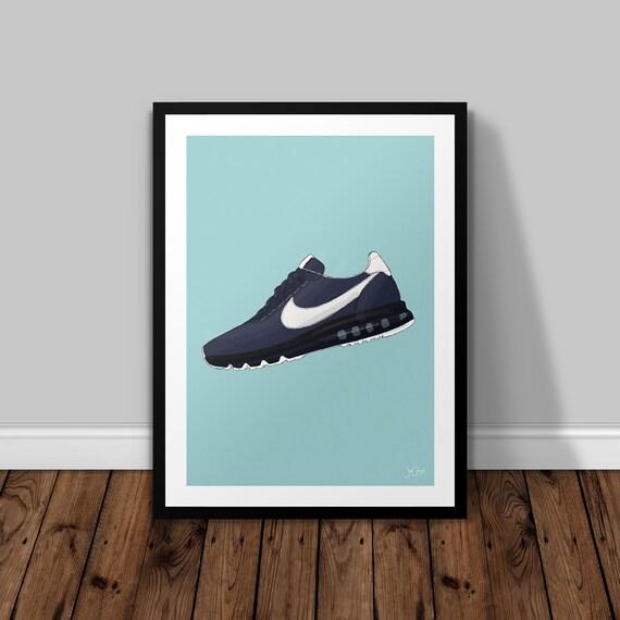 100% autenticato seleziona per il più recente a piedi scatti di Nike Air Max Zero - H Illustrated Poster Print | A6 A5 A4 A3
