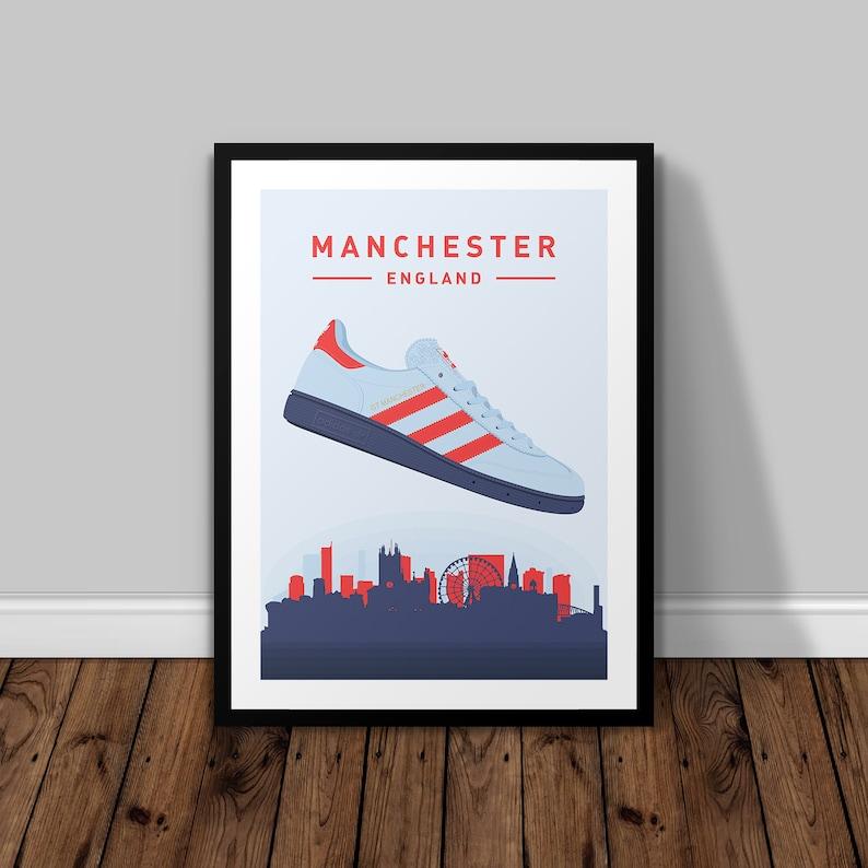 official photos 7dad8 5a637 Adidas Originals Spezial GT Manchester FORMATEURS illustré