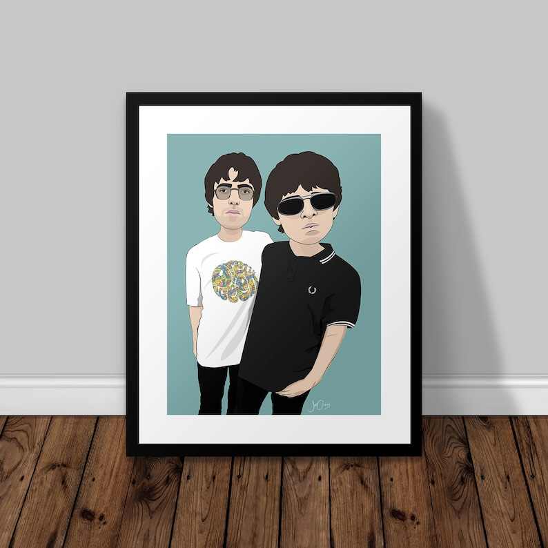 OASIS POSTER Manchester City Noel /& Liam Gallagher Photo Print Poster A4 A3