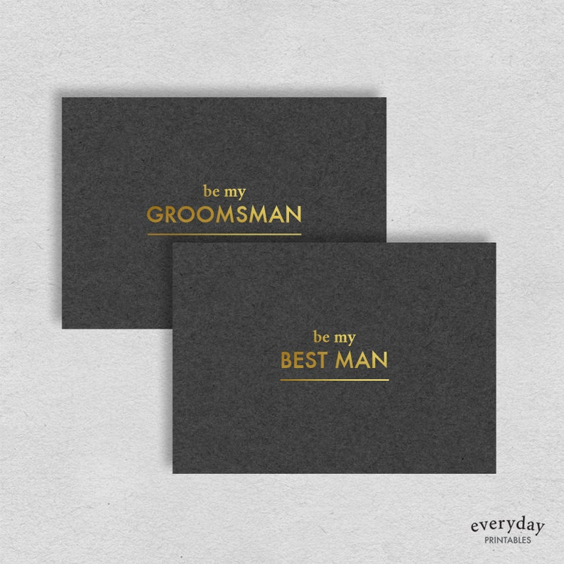photo regarding Printable Man Card known as Suitable guy card Groomsman card printable Card for groomsman Card for least difficult person Manly minimalist grey gold undeniable awesome typography card