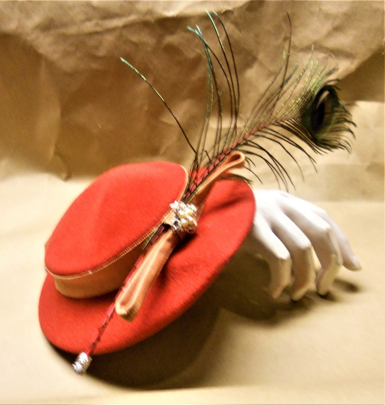 Peacock Saucer Hat